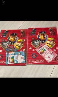 Instock Paw Patrol activity book set brand new