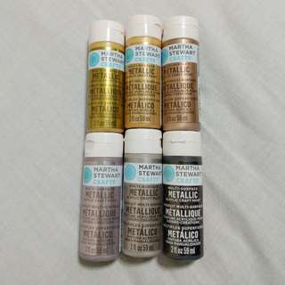 Martha Stewart Metallic Acrylic Paint