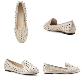 Studded slip-on Loafers /shoe in Gold