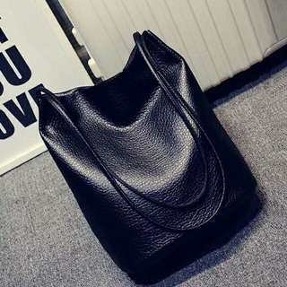 Instock Black Tote Bag leather
