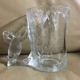 Coca Cola vintage  frosted glass