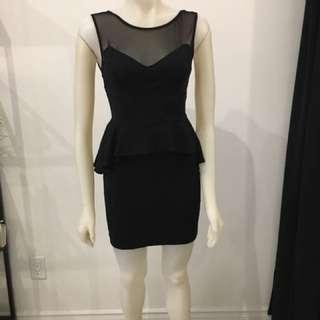 Bebe black peplum dress