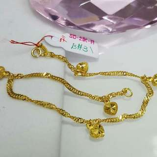 21K Saudi Gold Bracelet 7 inches