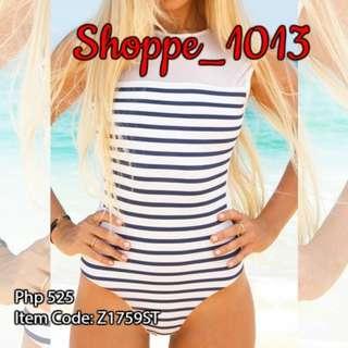 Jellica Stripe One Piece Swimsuit Z1759ST