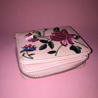 Dompet Stradivarius Milenial Pink with Embroidery