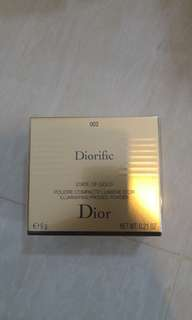 BN diorific illuminating pressed powder