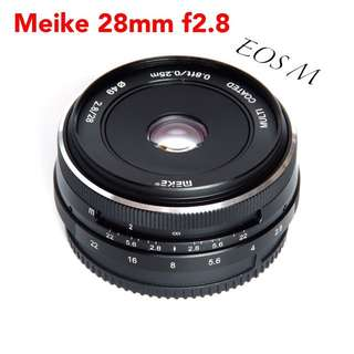 Meike MK-28mm F2.8 Manual Focus Lens for Canon-EF-M EOS M