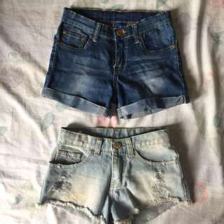 (Bundle, for Kids) 3 Denim Shorts