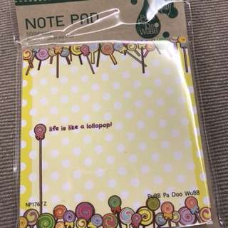 Little note pad
