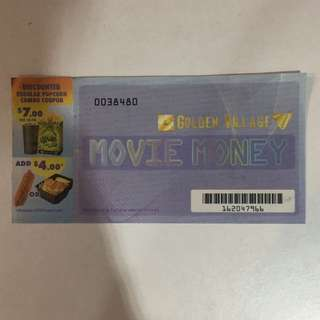 Golden village (GV) movie voucher