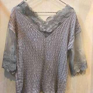Lace blouse woman