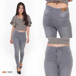 Celana jeans haighwaist panjang jsk1909