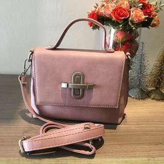 Tas import pink mini