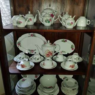 Vintage Tea Set plates Bowl