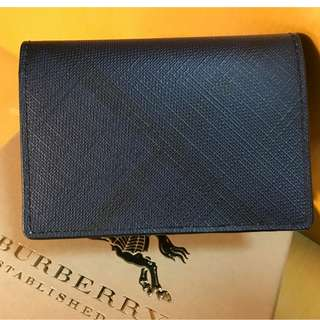 Burberry London Check Card Case Cardholder Navy Black