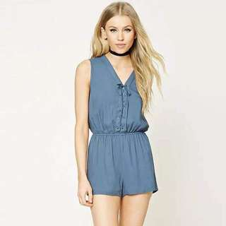 F21 Inspired! String Plain Romper
