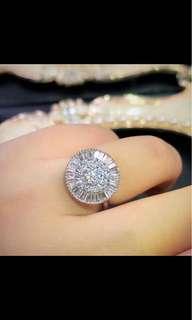 18k鑽石戒指共1.83卡