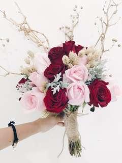Designer vintage glamour bridal bouquet WD105