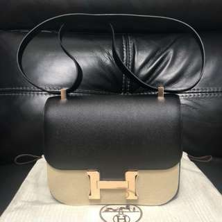 Constance 24 Epsom rose gold black