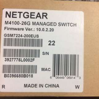 Netgear: GSM7224 24 port GIGABIT LAYER 2 Managed switch with 4 SFP (Shared)