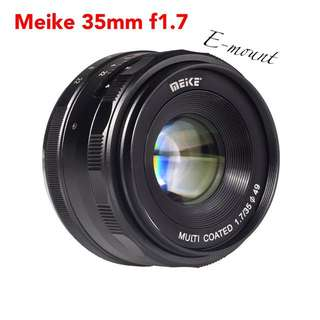 Meike MK-E-35-1.7 35mm F1.7 Large Aperture Manual Prime Fixed Lens APS-C for Sony E-Mount Digital Mirrorless Cameras NEX 3 NEX 3N NEX 5 NEX 5T NEX 5R NEX 6 7 A5000, A5100, A6000, A6100,A6300 A6500