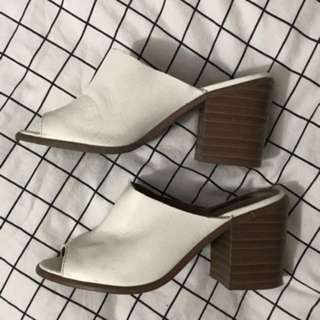 White mules size 6.5