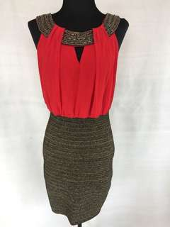Wow Couture (PeopleRPeople) Red&Black bandage Dress