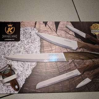 Pisau set isi 6 pcs merk kitchen king