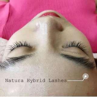Natural Hybrid Eyelash Extensions