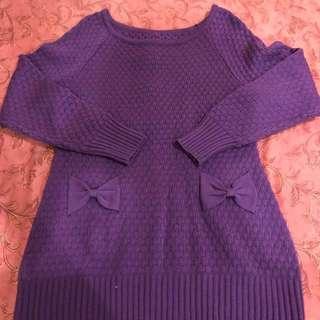 公主風針織洋裝