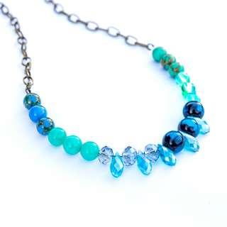 Vintage Mint Blue Handmade Necklace