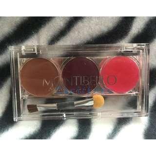 Montibello Lip Gloss Lip Cream Eye Shadow Set