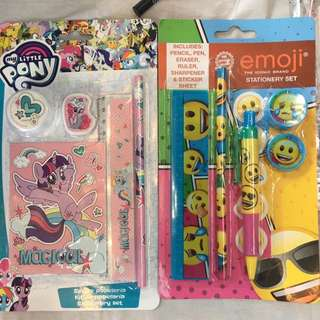 Little pony / emoji stationery set