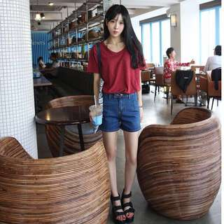 [PO] Basic Denim Shorts