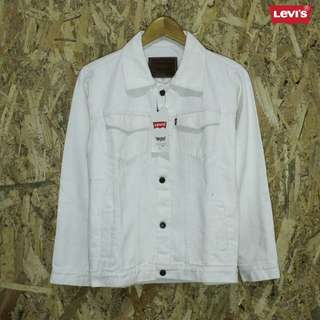 Jaket Jeans White