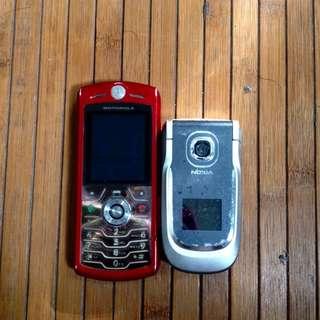 Classic famous Motorolla, Nokia, etc