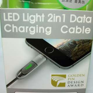 New 2-in-1 iOS and microUSB cable with LED indicator