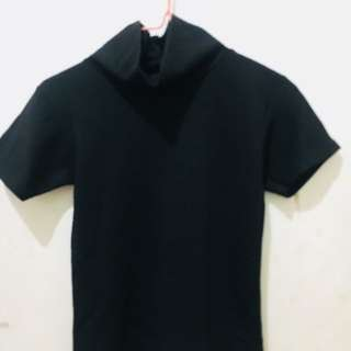 Baju Turtleneck hitam