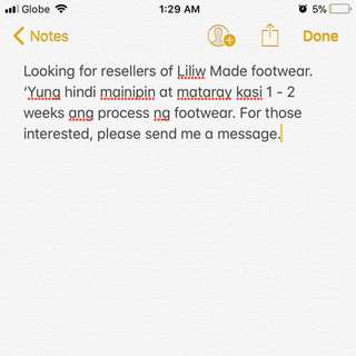 Reseller's of Liliw Made Footwear
