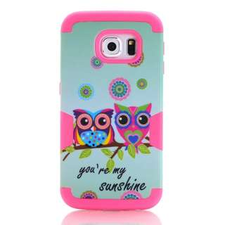 Cute Owl Hard & Slicone case for S7 edge