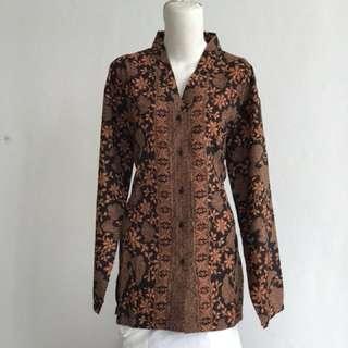 Kemeja batik blouse blus big size #123moveon
