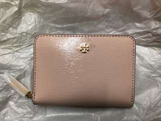 Tory Burch coins bag 銀包 全新正貨 淺粉色