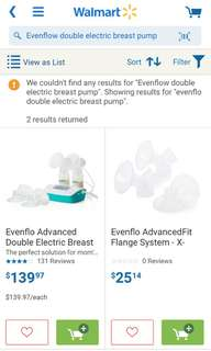 Evenflow double electric breast pump