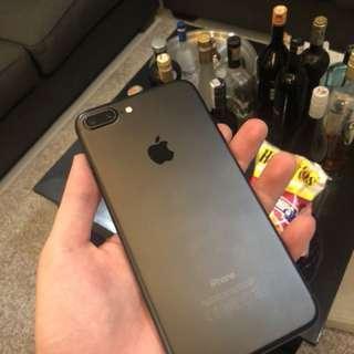 Iphone 7 Plus 128GB Black Matte Bekas - Iphone 7+ Hitam Second Bonus Casing BMW Original