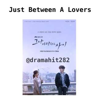 DVD Drama Korea Just Between Lovers