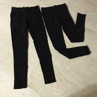 Stretchable black tights pants