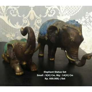 Set Of Elephant Statue 2 Size