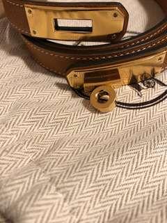 Hermes腰带金焦糖色全新