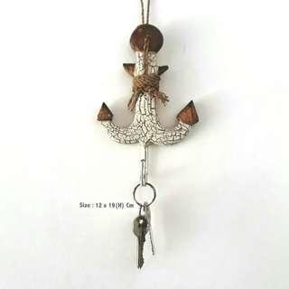 Gantungan Handuk Kunci Kayu Model Jangkar
