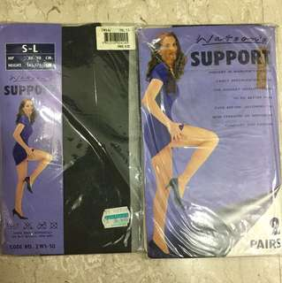 Pantyhose support black (3 pairs)